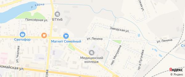 Улица Ленина на карте Новозыбкова с номерами домов