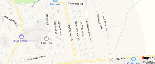Клинцовская улица на карте Новозыбкова с номерами домов