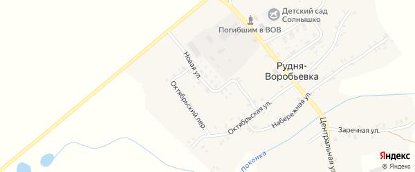 Новая улица на карте деревни Рудни-Воробьевки с номерами домов