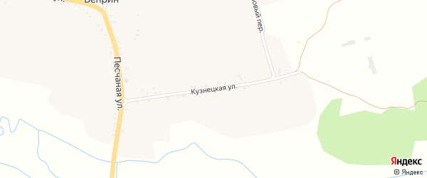 Кузнецкая улица на карте деревни Веприна с номерами домов