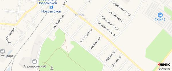 Улица Пушкина на карте Новозыбкова с номерами домов