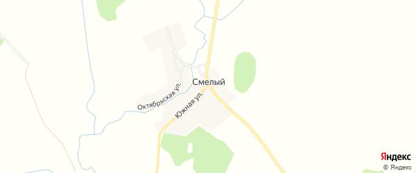 Карта Смелого поселка в Брянской области с улицами и номерами домов