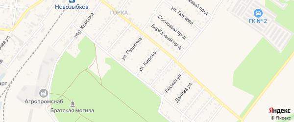 Улица Кирова на карте Новозыбкова с номерами домов
