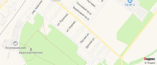 Краснофлотская улица на карте Новозыбкова с номерами домов