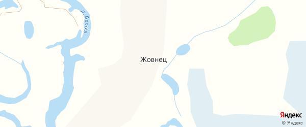 Центральная улица на карте села Жовнеца с номерами домов