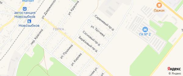 Сосновый проезд на карте Новозыбкова с номерами домов