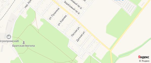 Лесная улица на карте Новозыбкова с номерами домов