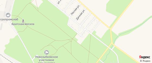 Улица Верхний питомник на карте Новозыбкова с номерами домов