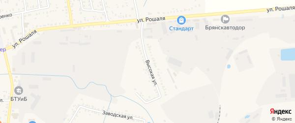 Высокая улица на карте Новозыбкова с номерами домов