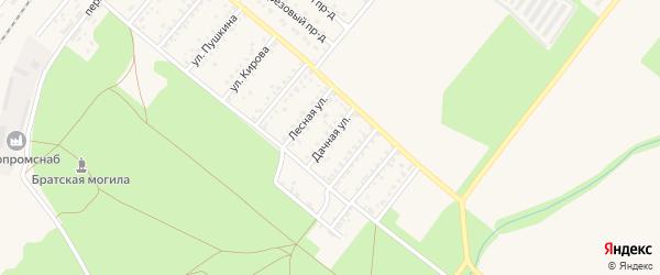 Дачная улица на карте Новозыбкова с номерами домов