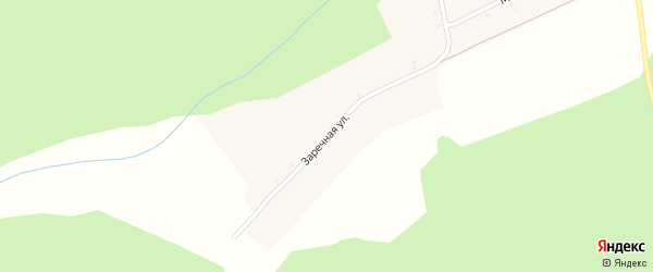 Заречная улица на карте села Фоевичи с номерами домов