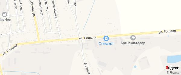 Улица Рошаля на карте Новозыбкова с номерами домов