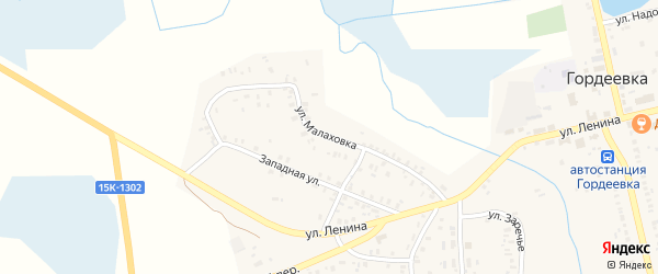Улица Малаховка на карте села Гордеевки с номерами домов
