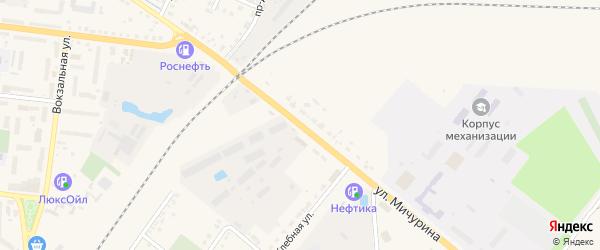 Улица Мичурина на карте Новозыбкова с номерами домов