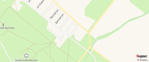 Больничная улица на карте Новозыбкова с номерами домов