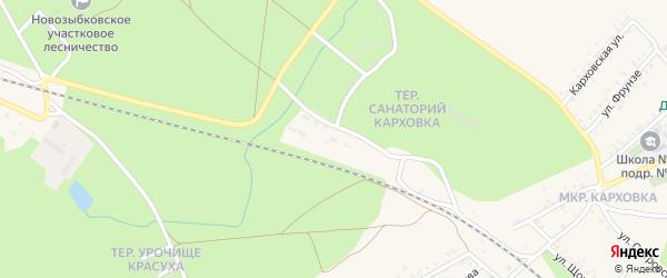 Территория ЖСК N10 на карте Новозыбкова с номерами домов