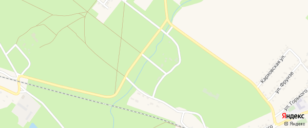 Территория Карховка санаторий на карте Новозыбкова с номерами домов