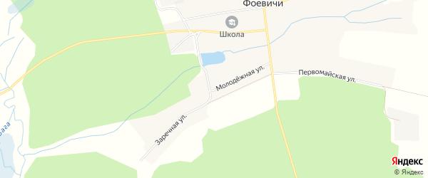 Карта села Фоевичи в Брянской области с улицами и номерами домов