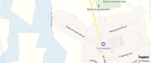 Красногорская улица на карте села Гордеевки с номерами домов