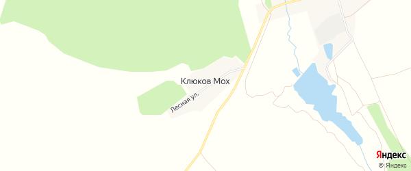 Карта поселка Клюкова Моха в Брянской области с улицами и номерами домов