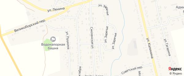 Смоленская улица на карте села Гордеевки с номерами домов