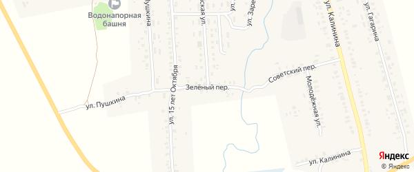 Зеленый переулок на карте села Гордеевки с номерами домов