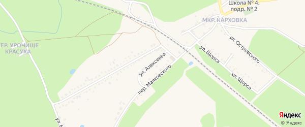 Улица Алексеева на карте Новозыбкова с номерами домов