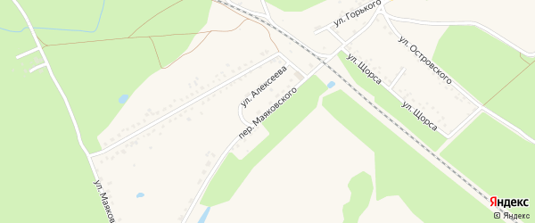 Переулок Маяковского на карте Новозыбкова с номерами домов