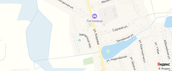 Заводской переулок на карте села Гордеевки с номерами домов