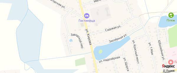 Улица Кирова на карте села Гордеевки с номерами домов