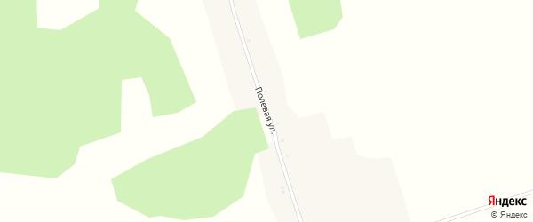 Полевая улица на карте поселка Красного с номерами домов