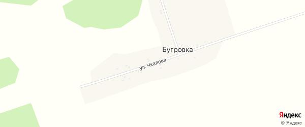 Улица Чкалова на карте поселка Бугровки с номерами домов