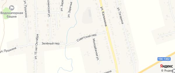 Советский переулок на карте села Гордеевки с номерами домов
