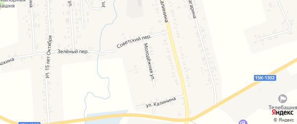 Молодежная улица на карте села Гордеевки с номерами домов
