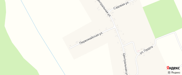 Первомайская улица на карте села Синего Колодца с номерами домов