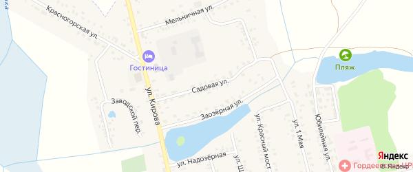 Садовая улица на карте села Гордеевки с номерами домов