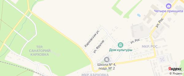 Карховская улица на карте Новозыбкова с номерами домов