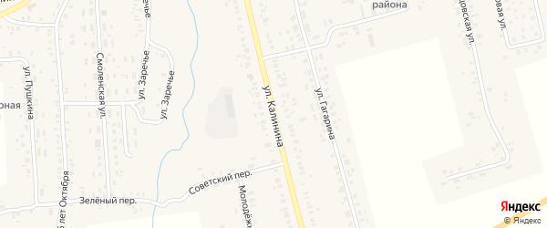 Улица Калинина на карте села Гордеевки с номерами домов
