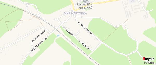 Улица Щорса на карте Новозыбкова с номерами домов