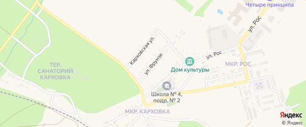 Улица Фрунзе на карте Новозыбкова с номерами домов
