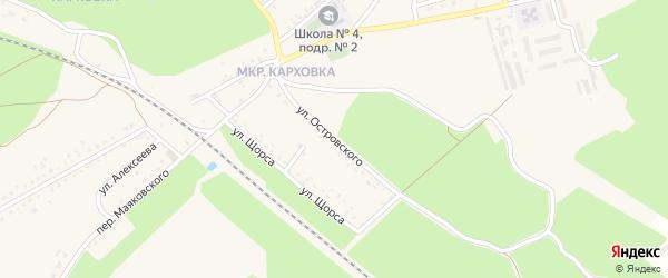 Улица Островского на карте Новозыбкова с номерами домов