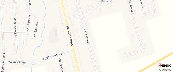 Улица Гагарина на карте села Гордеевки с номерами домов