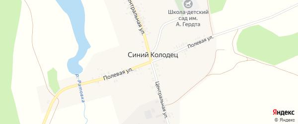 Полевая улица на карте села Синего Колодца с номерами домов