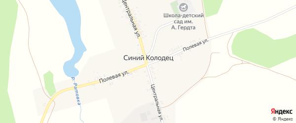 Улица А.Гердта на карте села Синего Колодца с номерами домов