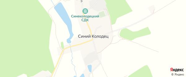 Карта села Синего Колодца в Брянской области с улицами и номерами домов