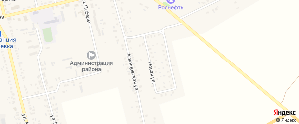 Новая улица на карте села Гордеевки с номерами домов