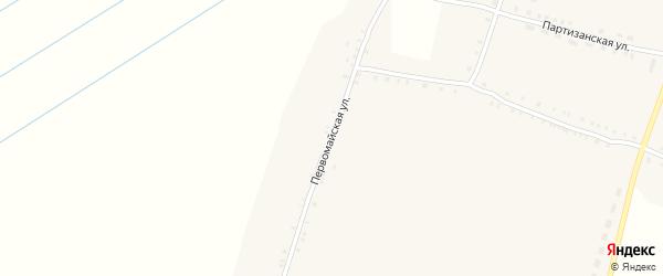 Первомайская улица на карте села Чуровичи с номерами домов