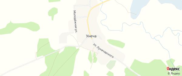 Карта деревни Унечи в Брянской области с улицами и номерами домов