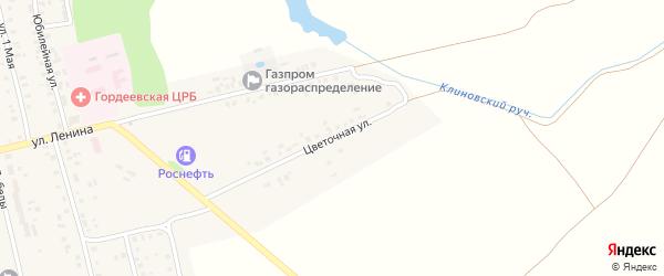 Цветочная улица на карте села Гордеевки с номерами домов