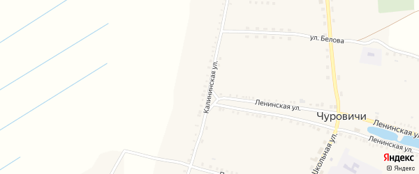 Калининская улица на карте села Чуровичи с номерами домов